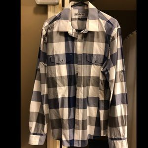 Express Plaid Casual Shirt